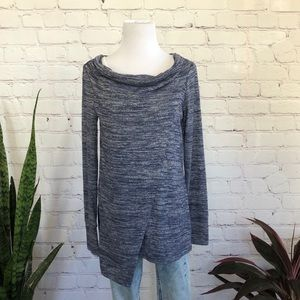 Kenar Asymmetrical Marled Shirt